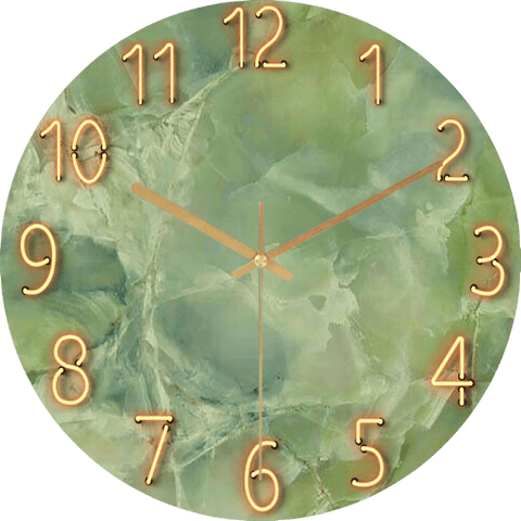 Nåsnab Large Modern Wall Clock Glass