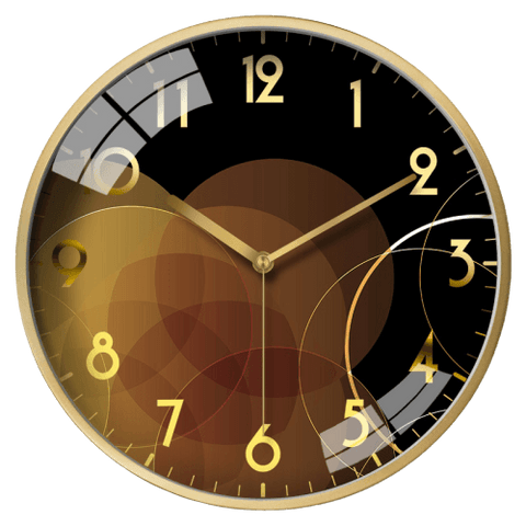 Person Large Modern Wall Clock Gold