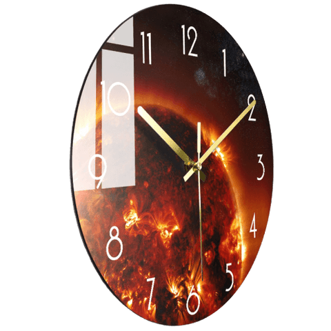 Resten Large Modern Wall Clock Glass