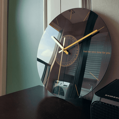 Sinneb Large Modern Wall Clock Glass