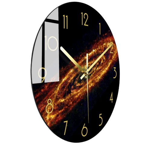 Spaceh Large Modern Wall Clock Glass