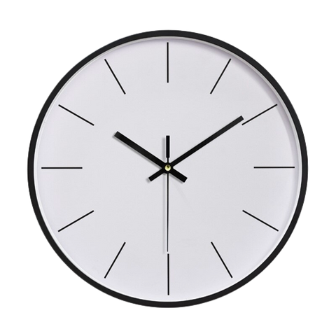 Stegti Large Modern Wall Clock White