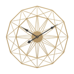 Underh Large Modern Wall Clock Gold