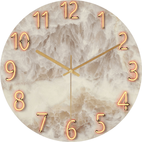 Verbsj Large Modern Wall Clock Glass