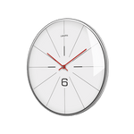 boken Large Modern Wall Clock White