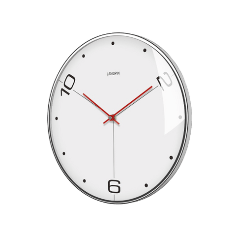 norr Large Modern Wall Clock White