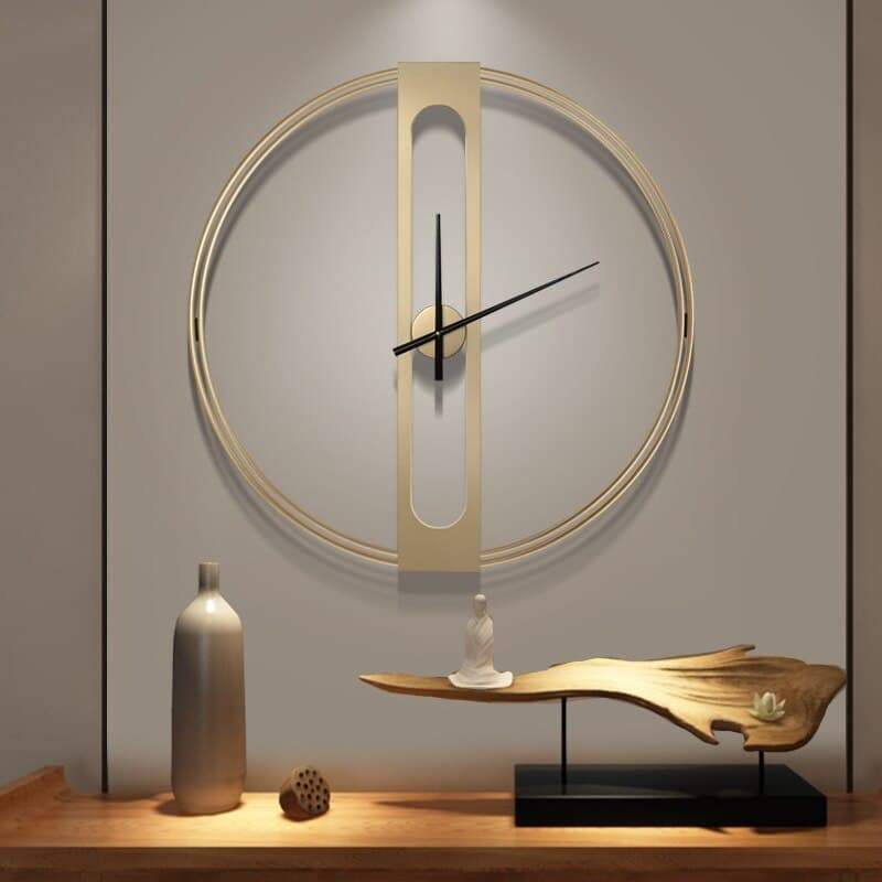 Large Modern Wall Clock Tog Gold The Fancy Place