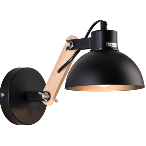 Ivi Light Fixture On Wall Black