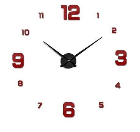 Väggklocka Red - Large Modern Wall Clock