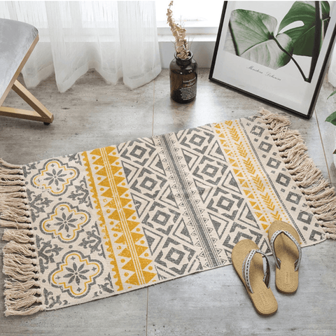 Ethnika Rug For Living Room Area Yellow