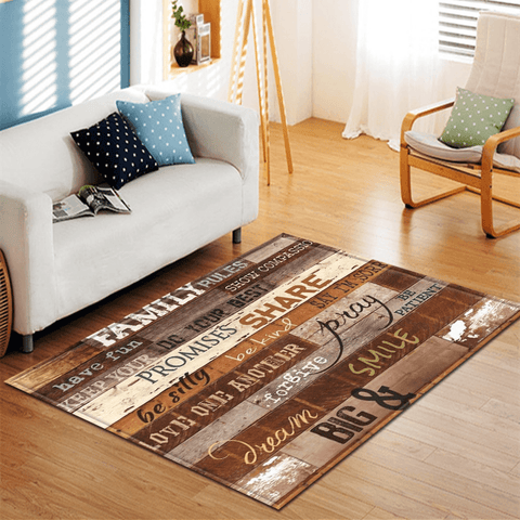 Falla Rug For Living Room Area Brown