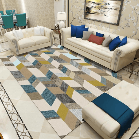 Pengar Rug For Living Room Area Blue