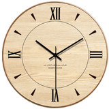 ansikte Wall Clock In Wood Wood