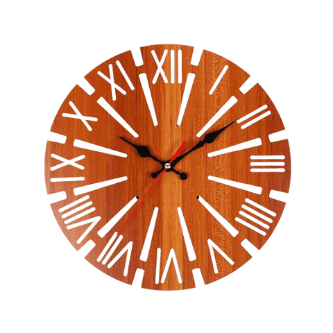 började Wall Clock In Wood Wood