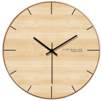färg Wall Clock In Wood Wood