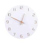 fisk Wall Clock In Wood White