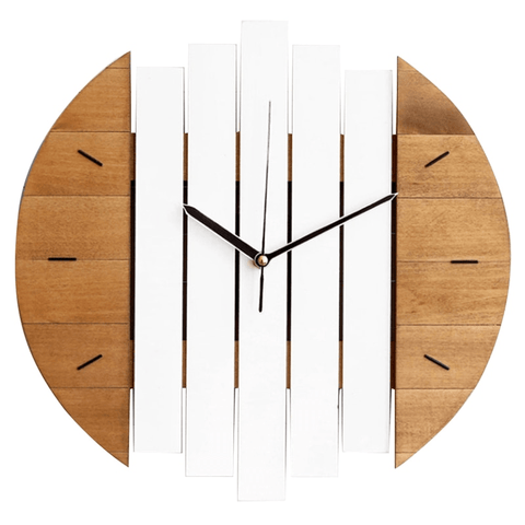 häst Wall Clock In Wood Wood