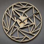 huvud Wall Clock In Wood Wood