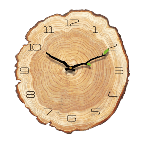 rum Wall Clock In Wood Wood