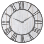 säker Wall Clock In Wood Silver