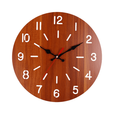 vän Wall Clock In Wood Brown
