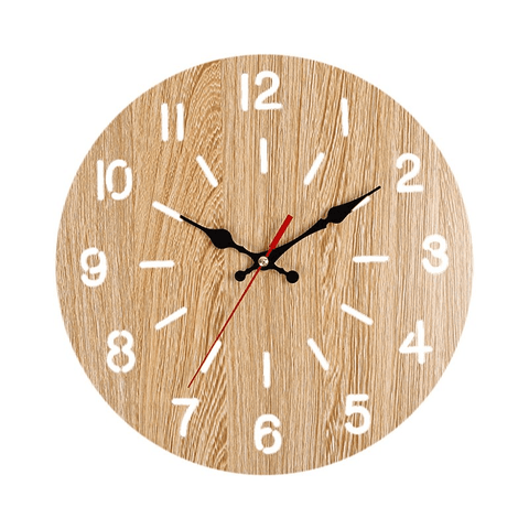 vän Wall Clock In Wood Wood