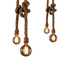 Load image into Gallery viewer, pendant light rope light hanging rope light industrial retro farmhouse