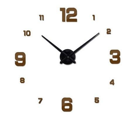 Väggklocka Brown - Large Modern Wall Clock