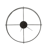 Lettin - Black  Large Modern Wall Clock
