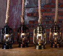 Load image into Gallery viewer, lighting store fixture industrial lantern kerosene hanging rope light lighting store