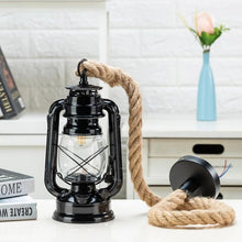 Load image into Gallery viewer, lantern kerosene farmhouse vintage hanging rope light lighting store