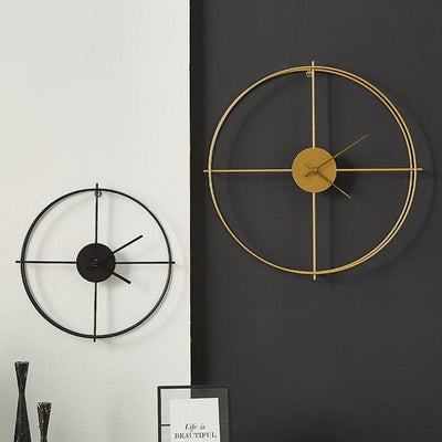 Lettin - Golden Large Modern Wall Clock