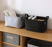 Load image into Gallery viewer, Tvättkorg - Bathroom Laundry Basket Grey