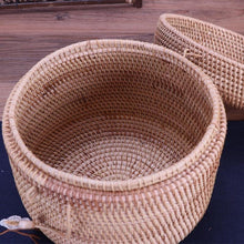Load image into Gallery viewer, Rattan Laundry basket of different size for storage or decorative purpose