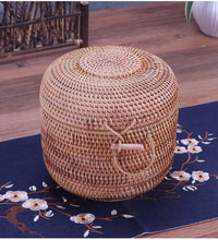 Load image into Gallery viewer, Wooven rattan basket for storage or laundry