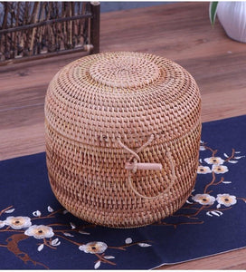 Wooven rattan basket for storage or laundry