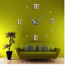 Load image into Gallery viewer, Väggklocka - Large Wall Clock Silver