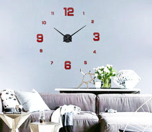 Load image into Gallery viewer, Väggklocka - Large Wall Clock Red