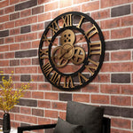 Kedje - Rustic Oversized Wall Clock