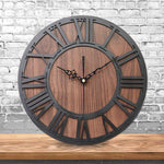 Ärganti Black - Rustic Oversized Wall Clock