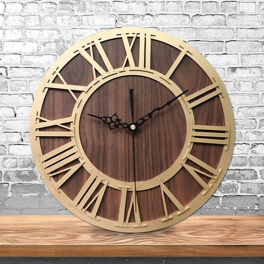 Ärganti Brown - Rustic Oversized Wall Clock