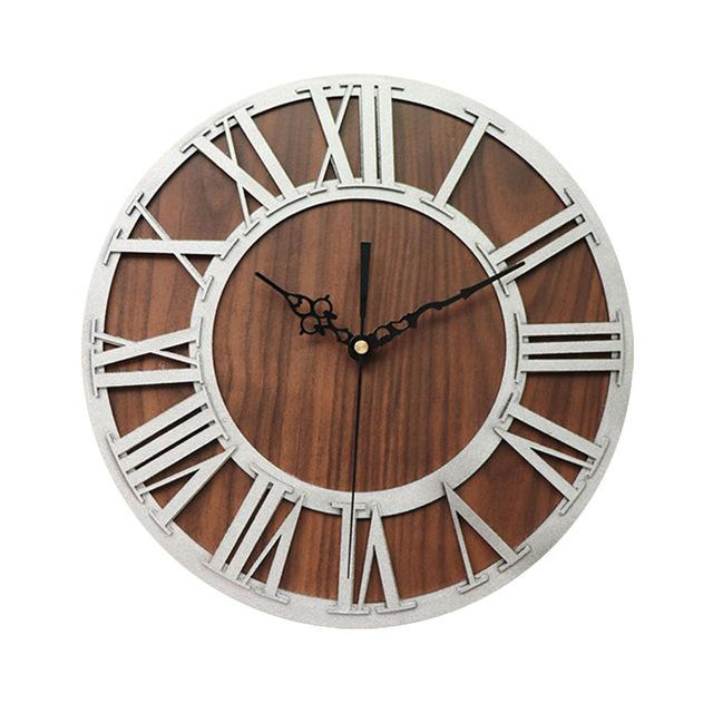 Ärganti White - Rustic Oversized Wall Clock