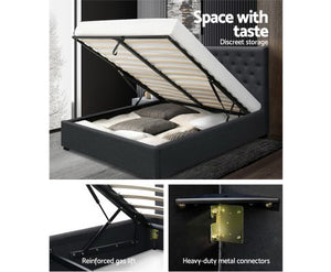 Queen Bed Gas Lift Bed Frame