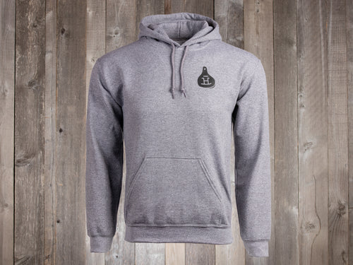 Rocking Bar H Strong & Courageous Hoodie - heather gray