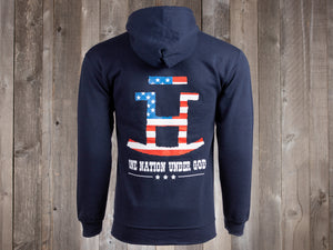 The Rocking Bar H One Nation Under God Zip-Up Hoodie