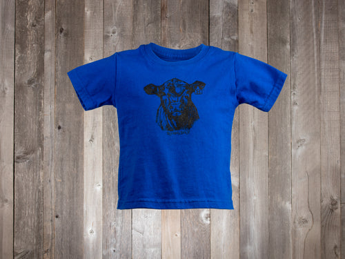 The Rocking Bar H F501 Calf Tee for infants & toddlers - blue