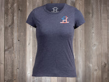 Load image into Gallery viewer, The Rocking Bar H One Nation Under God Ladies' Tee