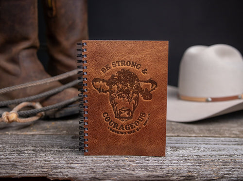 Rocking Bar H Strong & Courageous Notebook