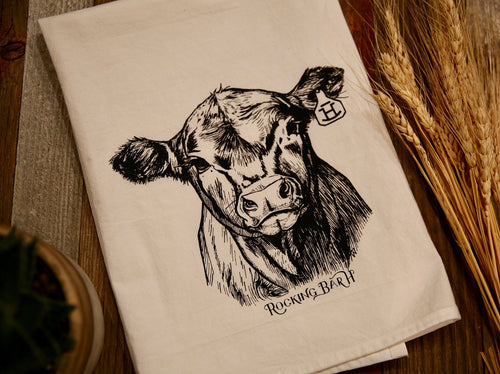 Rocking Bar H Ranch House Kitchen Towel - F501 Calf