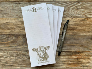Rocking Bar H F501 Calf Magnetic Notepad